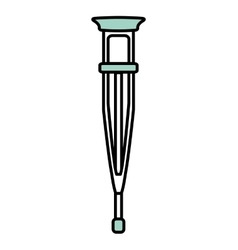 crutch medical isolated icon vector image