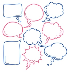 cute bubble speech vector image vector image