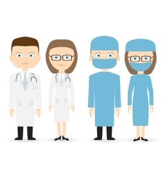doctor and surgeon vector image