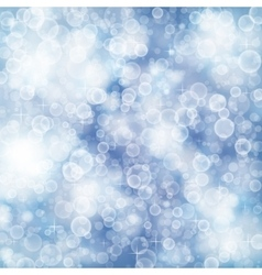 Elegant defocused background with bokeh and stars vector image