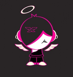 emo god vector image