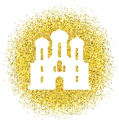 Golden background with glitter vector