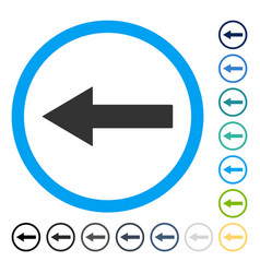 Left rounded arrow icon vector