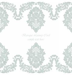 Luxury baroque vintage card vector