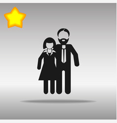 Man and woman black icon button logo symbol vector