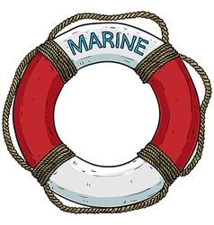 Marine theme lifebuoy vector