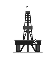 oil platform in the sea oil industry production vector image