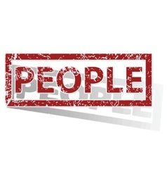 People outlined stamp vector