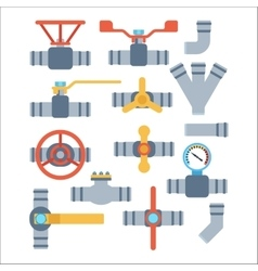 Pipes icons isolated vector image vector image