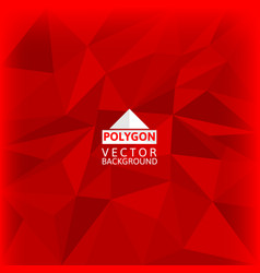 red polygon abstract background vector image vector image