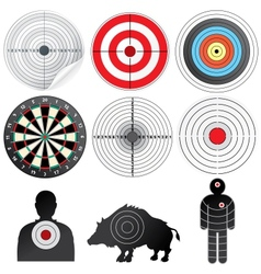 Set of Targets and Dummies vector image vector image
