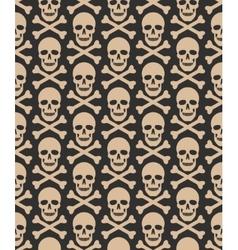 Skull seamless dark pattern vector