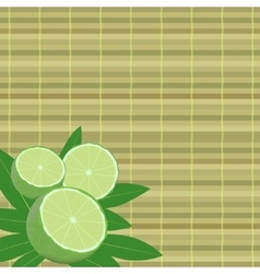 Spa leaves and lime vector