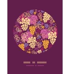 Sweet grape vines circle decor pattern background vector