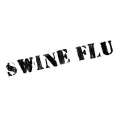 swine flu rubber stamp vector image vector image