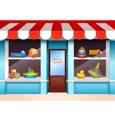 Toys shop window vector image