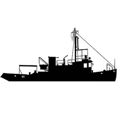 Tugboat silhouette vector