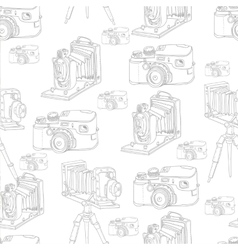 Vintage Seamless Background with Retro Camera vector image vector image