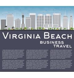 Virginia beach virginia skyline with gray building vector