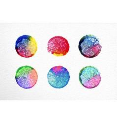 Watercolor circle set hand drawn vector