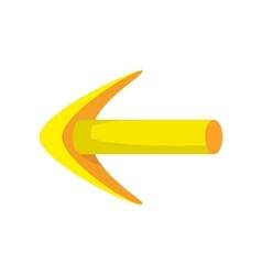 Yellow arrow cartoon icon vector image vector image