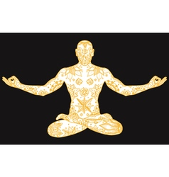 Yoga lotus pose vector