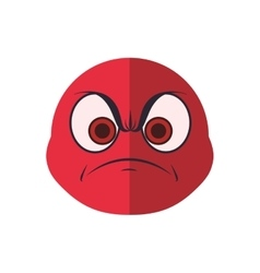 face angry sphere expression cartoon icon vector image