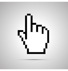Pixelated computer cursor in hand shape simple vector