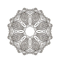 Mandala coloring31 vector