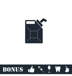 Canister icon flat vector
