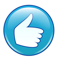 emoji emoticon icon like thumb up vector image