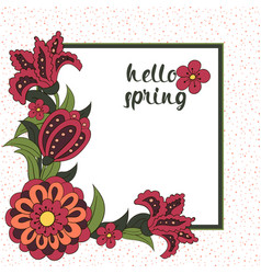 Spring postcard cover bright background for vector
