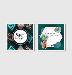 hand made abstract creative collage vector image