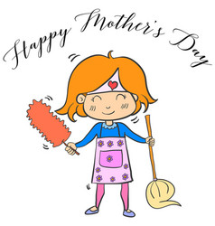 Happy mother day cartoon collection vector