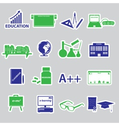 Teacher profession and teaching stickers eps10 vector