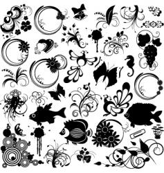 Clipart design elements vector