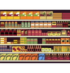 Grocery store background vector image