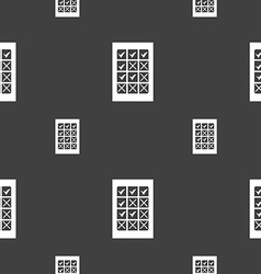 Bingo lottery icon sign seamless pattern on a gray vector
