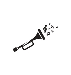 Black icon on white background musical vector