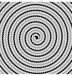 Abstract white spiral pattern vector