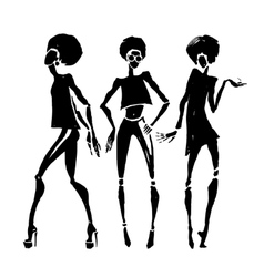 African silhouette set vector image vector image
