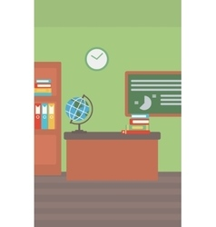 Background of classroom vector