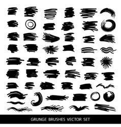 Big set of grunge brush strokes vector image