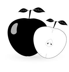 Black apple - vector