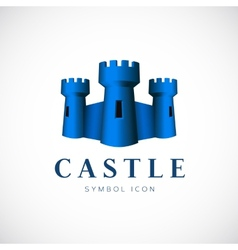 Castle towers concept symbol icon or logo template vector