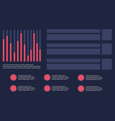 Collection business infographic with graphic style vector
