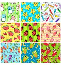 Cute patterns vector