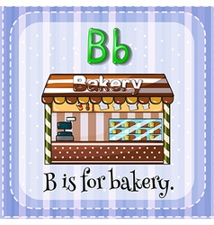 Flashcard b is for bakery vector