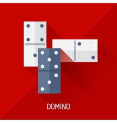 Game with domino in flat design style vector