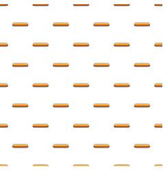 Gold rectangular button pattern vector